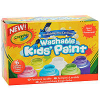 Набор легко смываемые краски неоновые Crayola 6 цветов 354 мл Сделаны в США