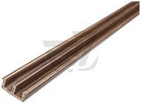 Профиль для стекла Ш-образный низкий 5x20x2500 мм коричневый