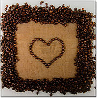 Картина на стекле Кофейное сердце