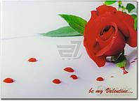 Картина на стекле Красная роза