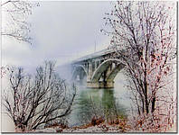 Картина на стекле Мост