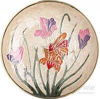 Тарелка декоративная декупаж Цветы 3275