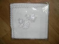 Крыжма махровая с вышивкой Pedaliza (серебро)