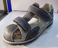 Ортопедические босоножки для мальчиков закрытые внутри кожаные р.32,36, удобная профилактическая обувь