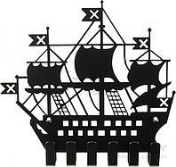 Ключница Корабль 205х183x20 мм черная