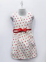 Нарядное платье Горох (красный), хлопок