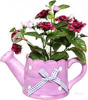 Цветы декоративные в кашпо 14х11 см 70-304