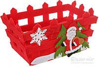 Корзинка декоративная конфетница Дед Мороз 20x10 см