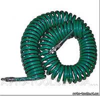 Шланг спиральный для пневмоинструмента 8*12мм*15м с переходниками (V-81215Р)