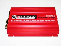 Усилитель звука Cougar 500 2х1500W 6-каналов. Автомобильный усилитель