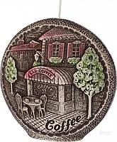 Свеча Ароматный кофе, диск 13 см BARTEK CANDLES