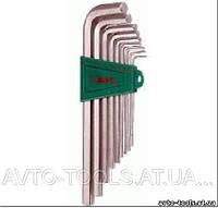 Инструмент HANS. Комплект углов. шестиграников EXTRA LONG 1,5-10мм, 9 пр.S2 материал (16762-9M)
