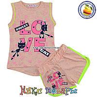 Детские летние костюмы шорты и майка от 3 до 6 лет (5318-3)