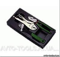 Инструмент HANS. Набор плоскогубцы, зажим, разводной ключ в ложем. 3 пред. (TT-23)