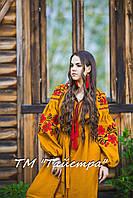 Платье  бохо вышиванка лен, этно, стиль бохо шик, вишите плаття вишиванка, Bohemian,стиль Вита Кин