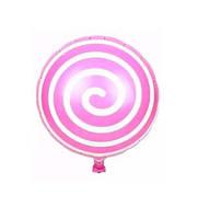 Шар фольгированный леденец  44 см розовый