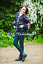 Блузка черная вышитая, вышиванка, лен, этно стиль, Bohemia, фото 3