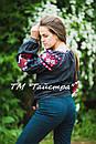 Блузка черная вышитая, вышиванка, лен, этно стиль, Bohemia, фото 4