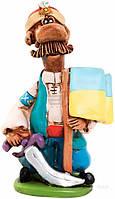Фигурка Козак с саблей и флагом 224444