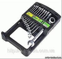 Набор ключей комбинированных, трещоточных 11 предметов, 8-19 мм. Alloid НК-2081-11