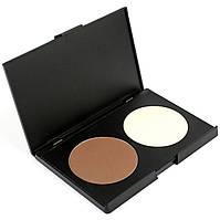 Хайлайтер и пудра для контуринга 2 цвета Beauties Factory Highlight & Contour Palette (Large) - #02