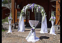Свадебная арка, выездная церемония. Бело-фиолетовая свадьба.