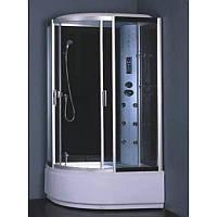 Гидробокс без пара, с электроникой на глубоком поддоне 1200*850*2150 мм, полностью стекл. GREY, правый