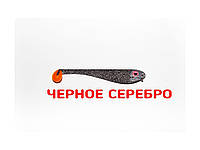 Плоская приманка Asmak 02-7sbs Shad 7 см Черное Cеребро