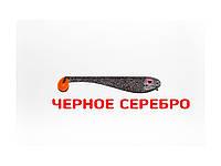 Плоская приманка Asmak 03-8sbs Shad 8см. Черное Cеребро