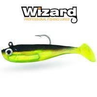 Силиконовая приманка Wizard Zander Master 8 см Green Belly 2 шт/уп
