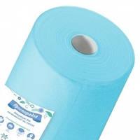 Простынь 0,6м х 100п.м рулон (пл. 20 г/м2) голубой  Пани Млада