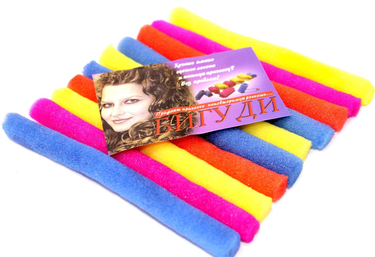 Бигуди для волос №10 (7х150mm) поролоновые