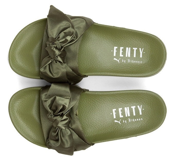 Тапочки Puma х Rihanna Fenty Bow Olive Branch