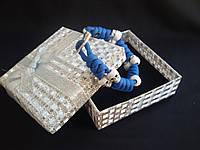 Браслет из паракорда Blue Skulls 008