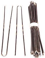 Шпильки для волос 75mm никелированные