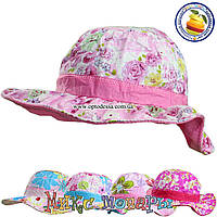 Детские панамки с цветами для девочек (объём 52- 54 см) (vti156)