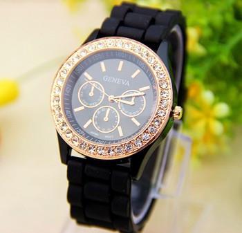 Часы женские  Geneva Fashion black (черный)