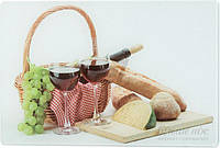 Доска кухонная Wuxi Jinfuda Tempered Glass Сыр и вино 20x30x0,4 см