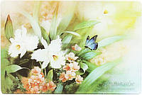 Доска кухонная Wuxi Jinfuda Tempered Glass Цветы 20x30x0,4 см