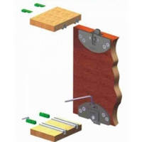 Раздвижная система для шкаф купе SCK 35 S  quot; Mepa quot; комплект на 1 двери