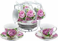 Сервиз чайный Пионы 13 предметов на 6 персон Оселя