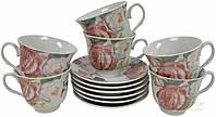 Сервиз для чая Розы 12 предметов на 6 персон Оселя