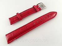 Ремешок к часам красный, кожаный, анти-аллергенный, фото 1