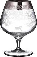 Набор бокалов для коньяка CreArt San Marco 395 мл 6 шт. платина