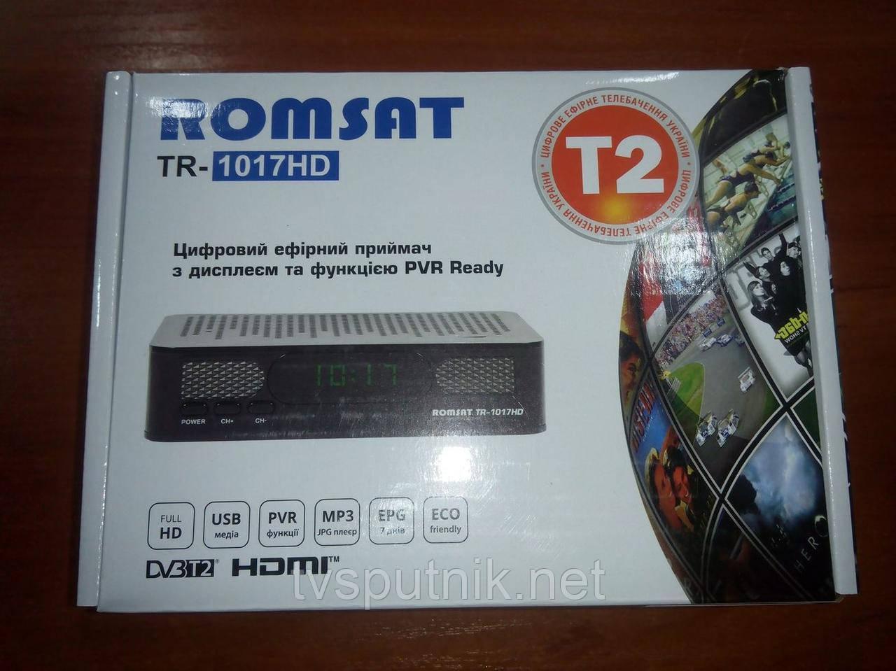 Эфирный DVB-T2 тюнер Romsat TR-1017HD