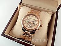 Часы женские Michael Kors цвет розовое золото, дата,, фото 1