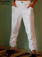 Белые женские брюки Ylanni 622