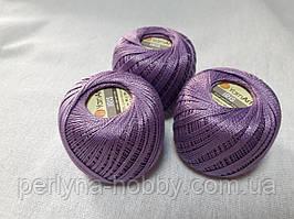 Ірис Пряжа Iris  YarnArt 100% бавовна, бузковий темний № 0918