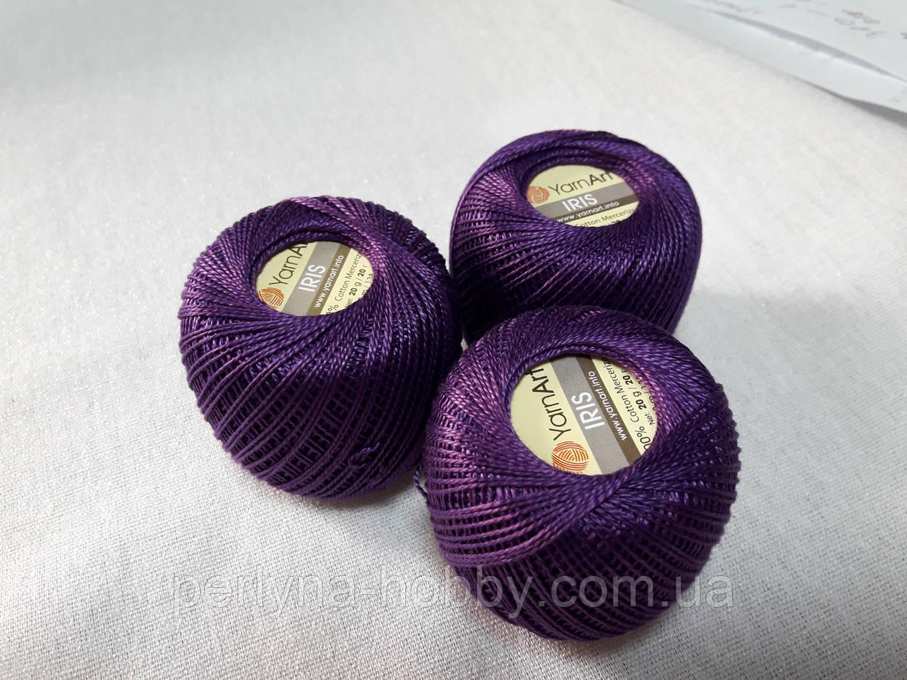 Нитки  для в'язання та гачкуння Ірис Пряжа Iris YarnArt 100% бавовна, фіолетовий, 1 шт № 0919