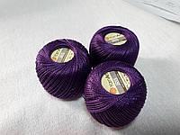 Нитки ирис Ірис Пряжа Iris YarnArt 100% бавовна, фіолетовий, 1 шт № 0919
